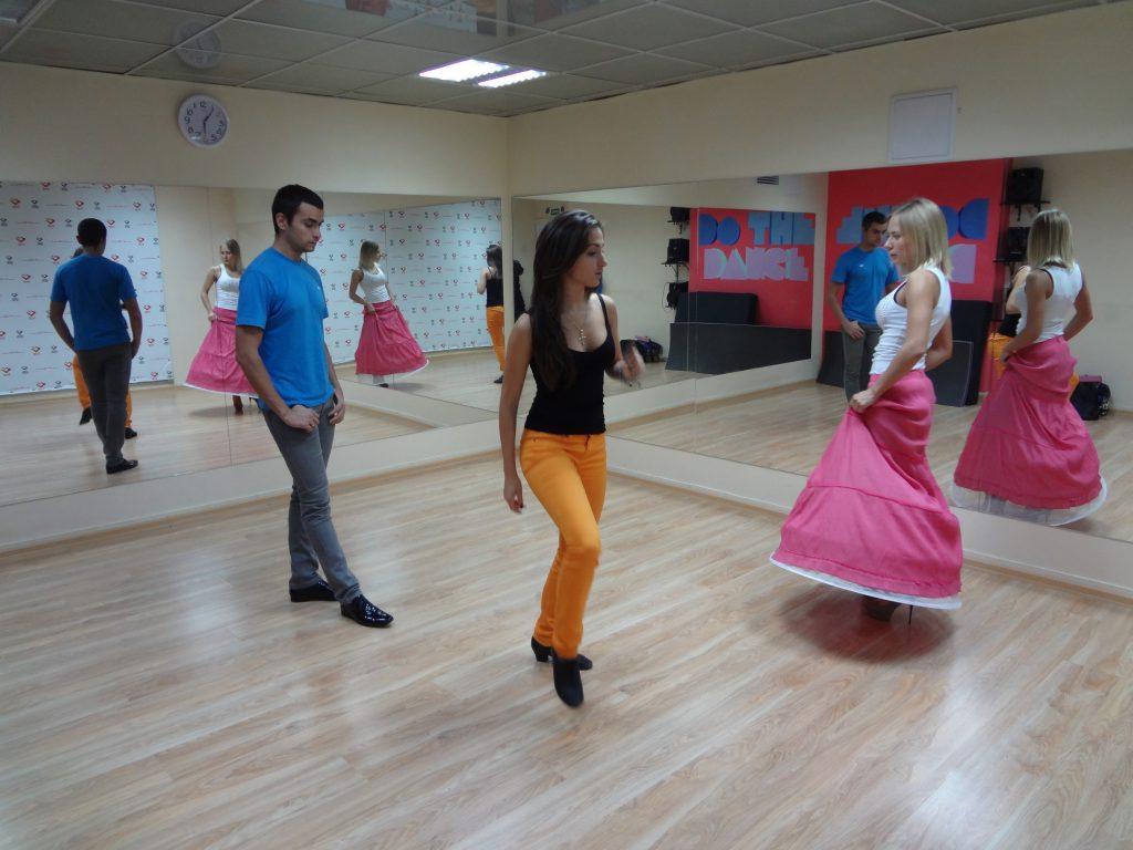 Репетиция Виктории и Сергея.