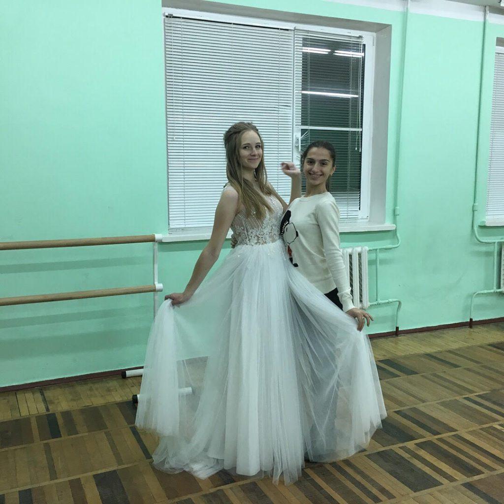 Репетиция в платье. Свадебный танец для Елены и Сергея.