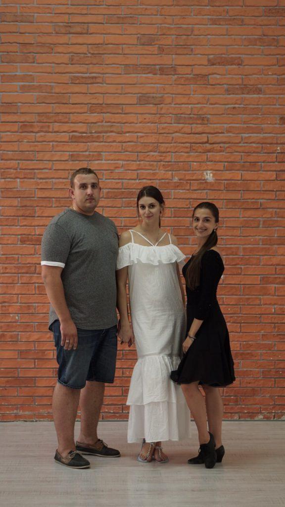 Евгений и Юлия. Экспресс постановка, всего 4 занятия. Репетиция в зале.